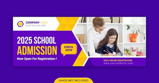 Modelo de foto da capa do cronograma do facebook para admissão na escola