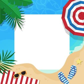 Modelo de frame de mídia social de verão