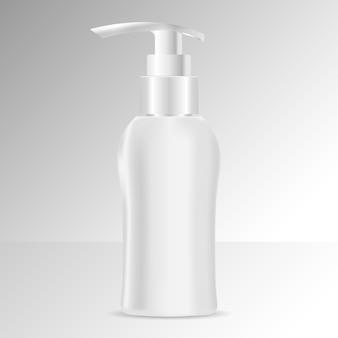Modelo de frasco de sabonete líquido ou xampu. cosméticos
