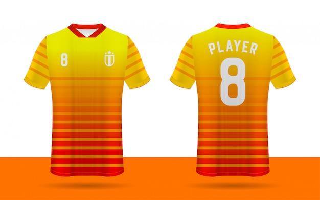 Modelo de frente e verso de camisa de futebol