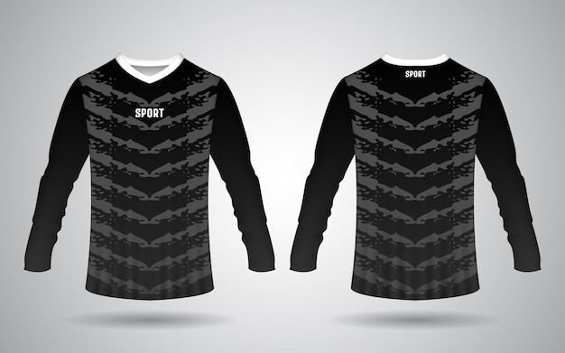 Modelo de frente e verso de camisa esporte