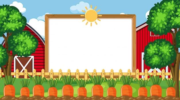 Modelo de fronteira com cena de fazenda