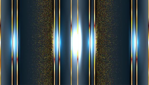 Modelo de fundo 3d abstrato metálico escuro moderno