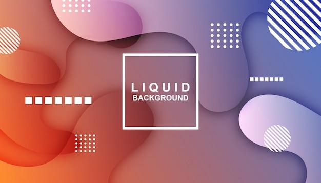 Modelo de fundo abstrato líquido