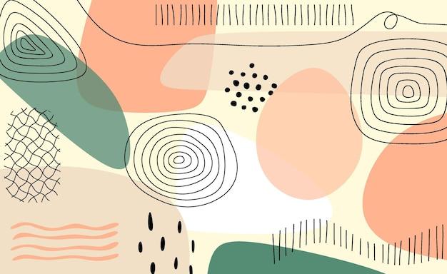 Modelo de fundo artístico universal na moda abstrato.