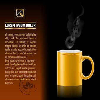 Modelo de fundo da xícara de café