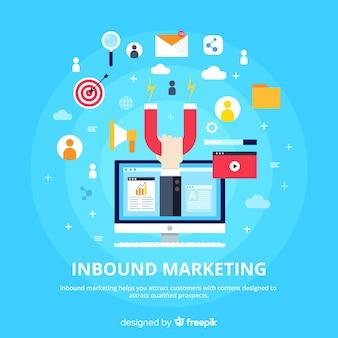 Modelo de fundo de marketing de entrada