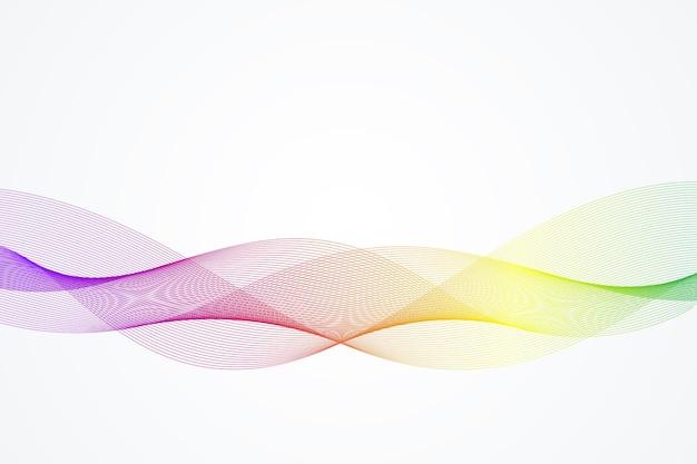 Modelo de fundo de onda abstrata para seu design de brochura, folheto, relatório, site, banner