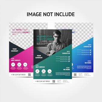 Modelo de fundo de panfleto de cor moderna corporativa