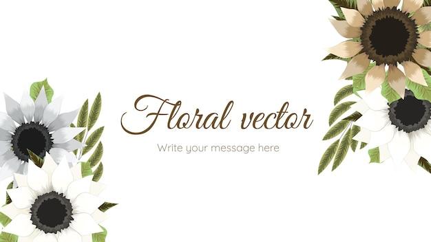 Modelo de fundo floral colorido da primavera com flores elegantes.