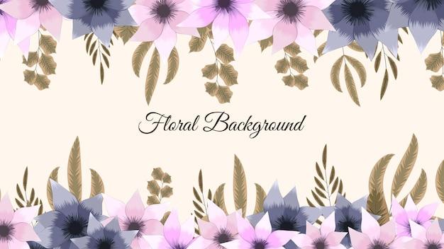 Modelo de fundo floral colorido de primavera com flores elegantes