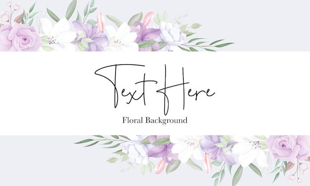 Modelo de fundo floral roxo romântico