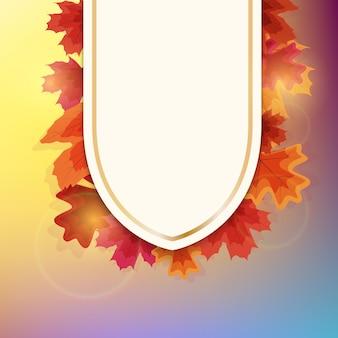 Modelo de fundo natural de outono com folhas caindo.