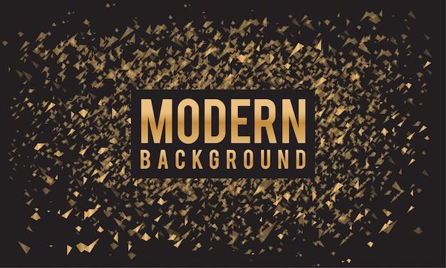 Modelo de fundo preto abstrato polvilhe ouro textura
