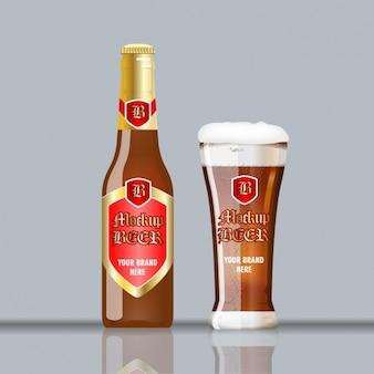 Modelo de garrafa de cerveja