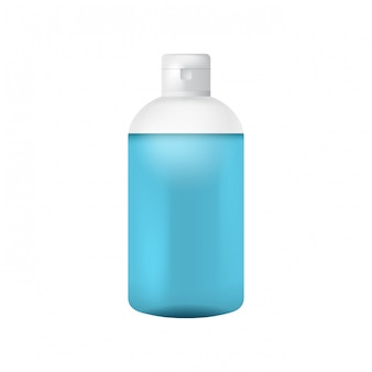 Modelo de garrafa de plástico limpo para sabonete líquido