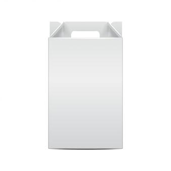 Modelo de garrafa de videira pacote dobrável. ilustração da caixa de artesanato de presente para, site, plano de fundo, banner. vista frontal
