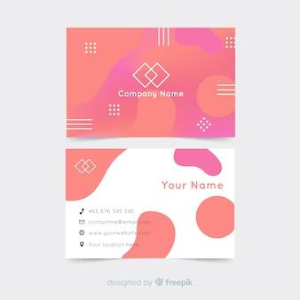 Modelo de gradiente de cartão de visita
