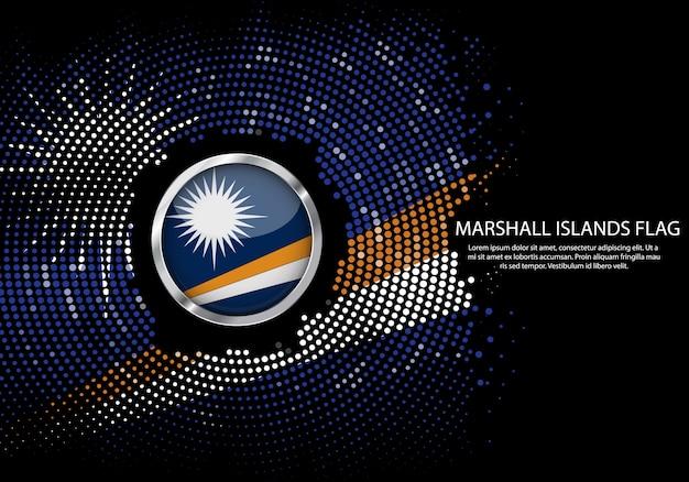 Modelo de gradiente de fundo de meio-tom da bandeira de marshall.