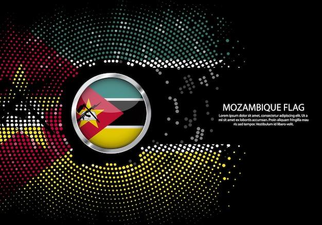 Modelo de gradiente de fundo de meio-tom da bandeira de moçambique.