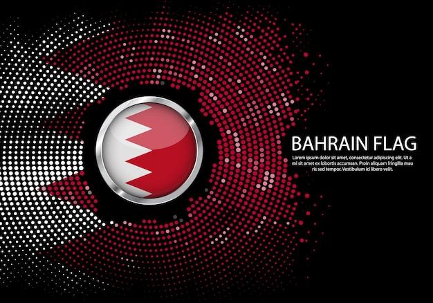 Modelo de gradiente de fundo de meio-tom da bandeira do bahrein