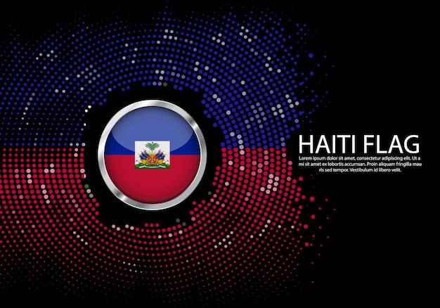 Modelo de gradiente de fundo de meio-tom da bandeira do haiti.