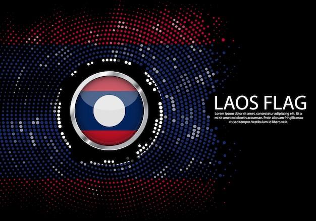 Modelo de gradiente de fundo de meio-tom da bandeira do laos