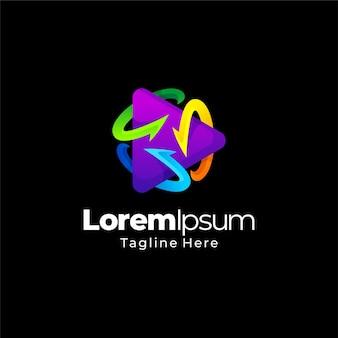 Modelo de gradiente de logotipo abstrato