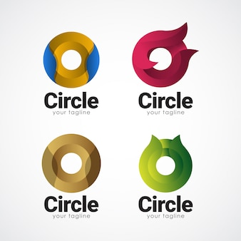 Modelo de gradiente de logotipo de círculo
