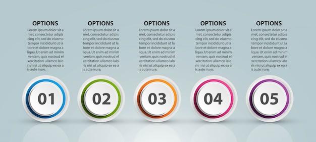 Modelo de gráfico de organização de design infográfico para apresentações de negócios.