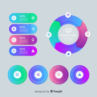 Modelo de gráficos de infográfico informativo