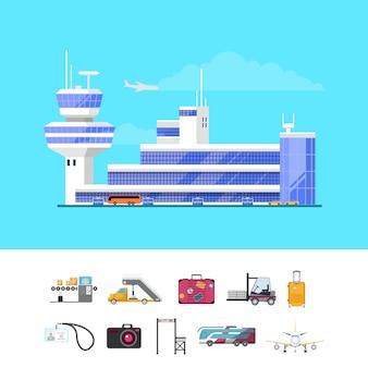 Modelo de guia de aeroporto internacional de passageiros