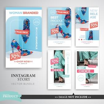Modelo de história de instagram de produto de interior e moda