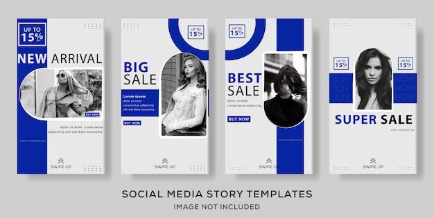 Modelo de história de mídia social de banner minimalista