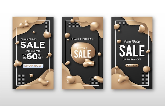 Modelo de história de mídia social de venda da black friday