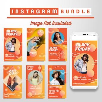 Modelo de história do instagram com desconto criativo