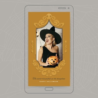 Modelo de história do instagram para halloween