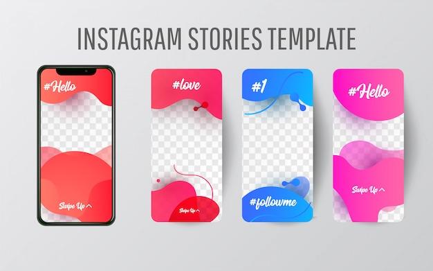 Modelo de história do instagram para mídias sociais