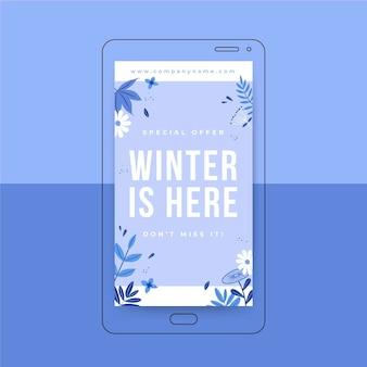 Modelo de história instagram de inverno
