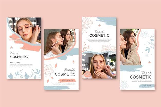 Modelo de histórias cosméticas para instagram