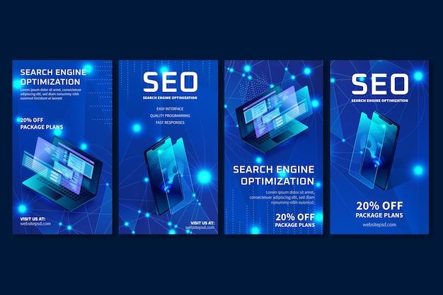 Modelo de histórias de anúncios de seo