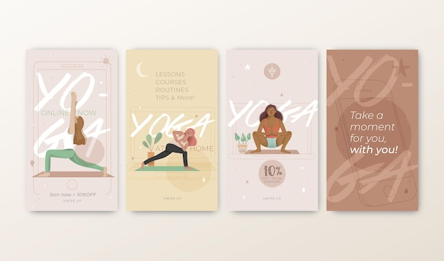 Modelo de histórias de instagram de ioga