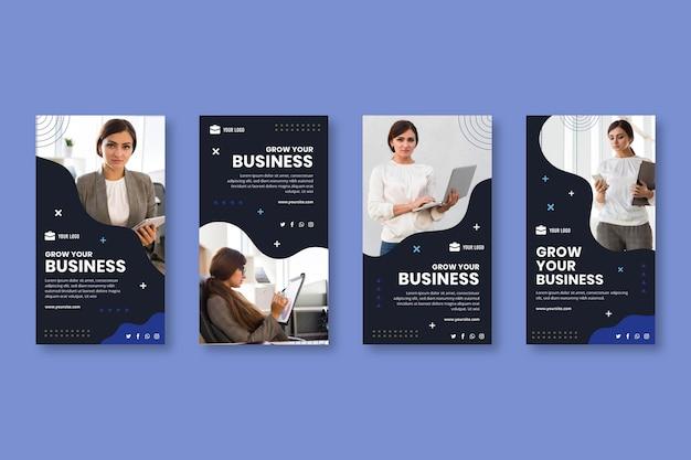 Modelo de histórias de instagram de negócios em geral