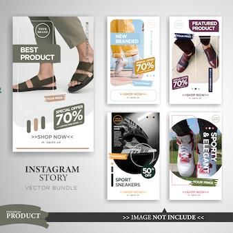 Modelo de histórias de instagram de venda de produto de moda