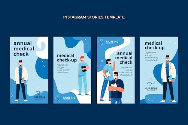 Modelo de histórias de instagram médicas planas