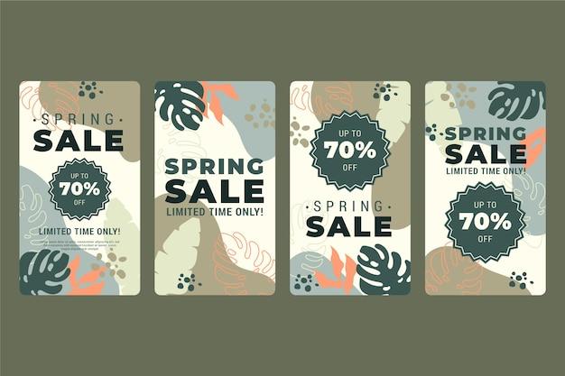 Modelo de histórias de mídia social de venda de primavera