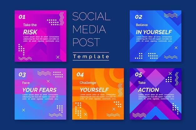 Modelo de histórias de mídia social para obter dicas