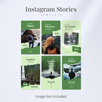 Modelo de histórias de viagens no instagram