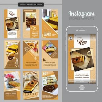 Modelo de histórias do instagram de bolo