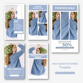 Modelo de histórias do instagram de moda de mulher